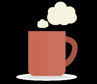 ちょっと一息、コーヒーカップ